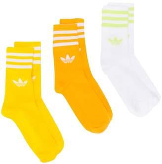adidas Mid-Cut Crew three-pack socks