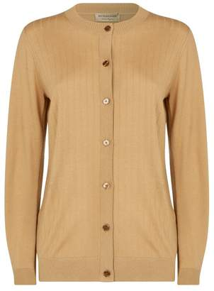 Burberry Cashmere Ribbed Cardigan