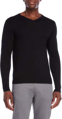 Forte Cashmere Worsted V-Neck Sweater