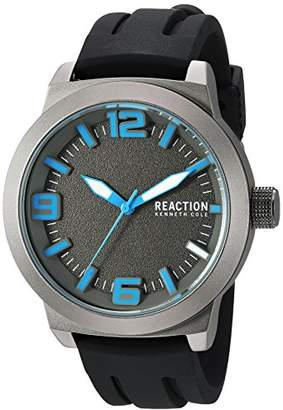 Kenneth Cole Reaction Men's Quartz Metal and Silicone Casual Watch