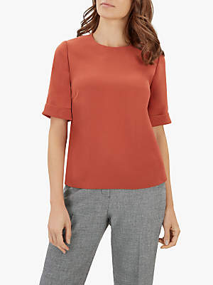 Jaeger Boxy Crepe Top
