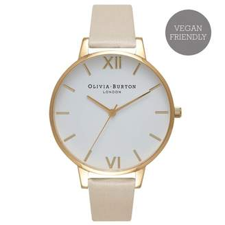 Olivia Burton VEGAN FRIENDLY BIG DIAL NUDE & GOLD WATCH