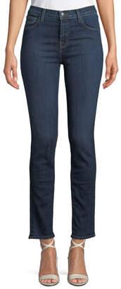 """J Brand Ruby High-Rise Denim Cigarette Jeans (30"""" Inseam)"""