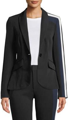 Rachel Roy Darby Striped Long-Sleeve Blazer