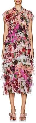 Dolce & Gabbana Women's Peony-Print Silk Chiffon Dress