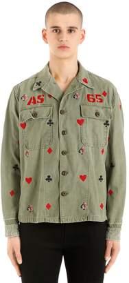Vintage Embroidered Gabardine Shirt