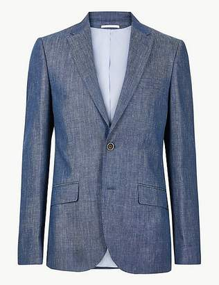 Marks and Spencer Big & Tall Tailored Fit Linen Miracle Jacket