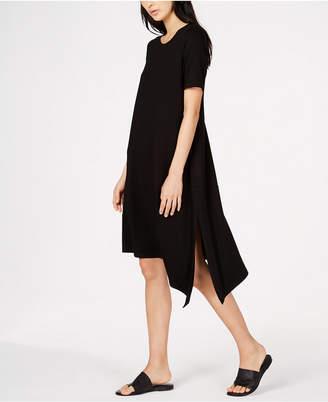 Eileen Fisher Petite Size Stretch Jersey Asymmetrical Dress