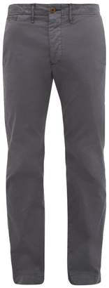 Officers Wide Fit Cotton Chino Trousers - Mens - Navy
