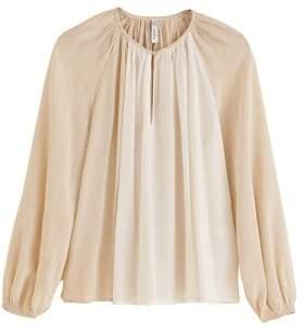 MANGO Metallic thread blouse