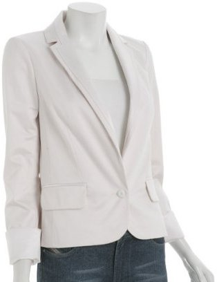 Marc by Marc Jacobs new cream cotton sateen tuxedo jacket