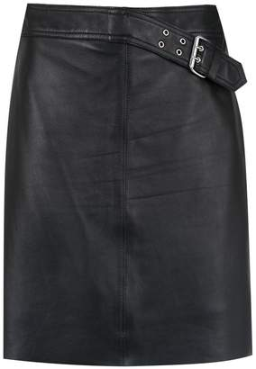 Nk short leather skirt