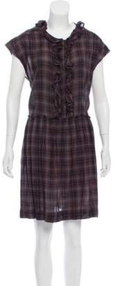 Etoile Isabel Marant Plaid Ruffled Dress