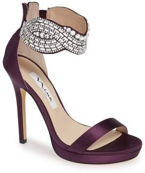 Nina Fayth Jeweled Ankle Cuff Sandal