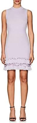 Nina Ricci WOMEN'S RUFFLE-TRIMMED WOOL SHEATH DRESS - PURPLE SIZE S