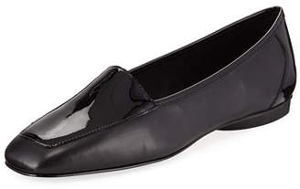 Donald J Pliner Deedee Slip-On Mixed Leather Flat, Black