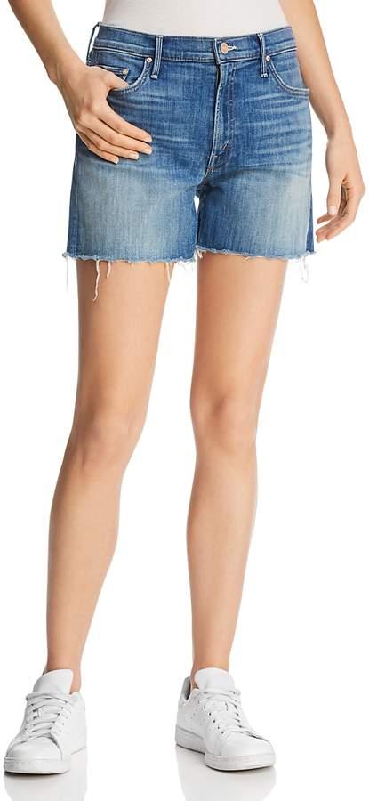 Sinner Fray Denim Shorts in Mums The Word