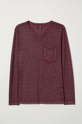 H&M Muscle Fit Long-sleeved Shirt - Red