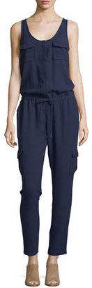 Joie Vernay Crepe Sleeveless Jumpsuit, Dark Navy $268 thestylecure.com