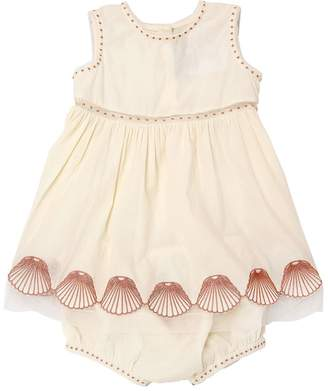 Stella McCartney Embroidered Muslin Dress & Diaper Cover