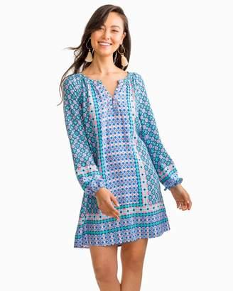 Southern Tide Ashlee Placement Tile Print Tunic Dress
