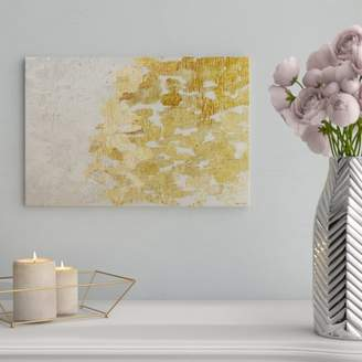 Victoria's Secret Willa Arlo Interiors 'Gold Platinum Abstract Art' Wrapped Canvas Print Format: Canvas,