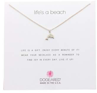 Dogeared Sterling Silver Life's A Beach Dolphin Pendant Necklace