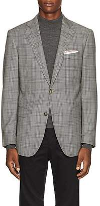 Pal Zileri MEN'S CHECKED WOOL TWO-BUTTON SPORTCOAT - BEIGE/TAN SIZE 38 R