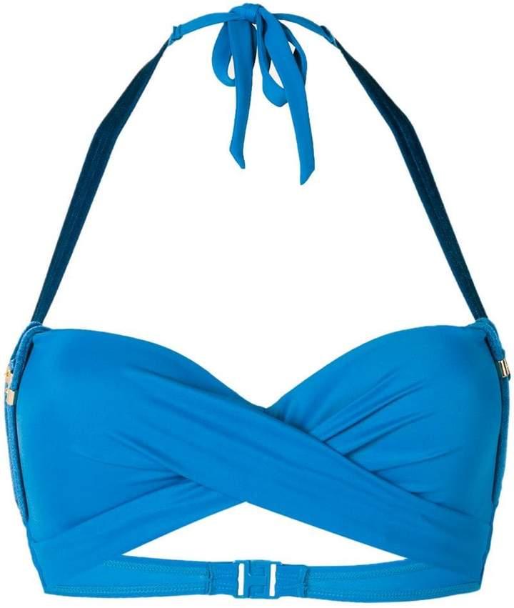 Kiss deep plunge bikini top