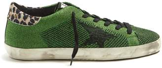Golden Goose Super Star low-top metallic-knit trainers