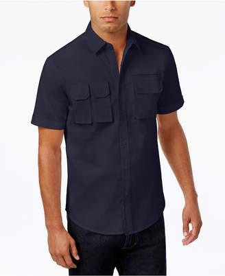 Sean John Men's Multi-Pocket Cotton Shirt