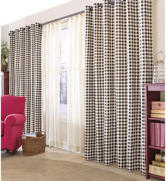 Plow & Hearth Hollow? Energy Efficient Insulated Plaid & Check Room Darkening Thermal Grommet Curtain Panels