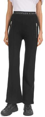 The Kooples Logo-Detail Zip-Pocket Fleece Sweatpants