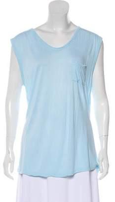 Alexander Wang Sleeveless Scoop Neck T-Shirt