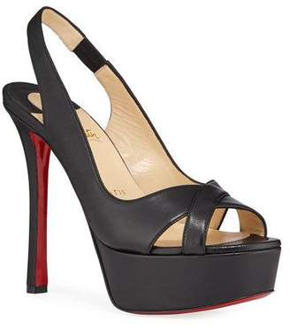 Christian Louboutin Postdam Smooth Red Sole Sandals