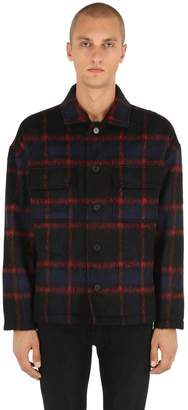 The Kooples Check Faux Ponyskin Jacket