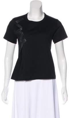 Noir Kei Ninomiya Scoop Neck Short Sleeve T-Shirt