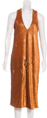 Prabal Gurung Sequined Sleeveless Midi Dress