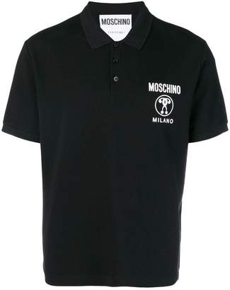 Moschino logo printed polo shirt