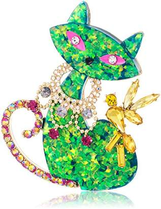 Betsey Johnson Womens Granny Chic Cat Brooches and Pin