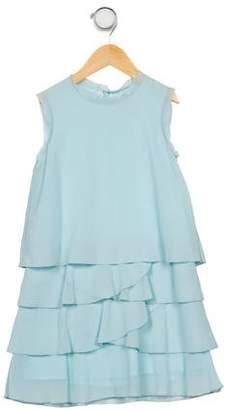 Lili Gaufrette Girls' Tiered Sleeveless Dress
