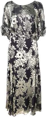 Warm open back floral dress