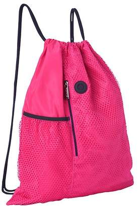 Athleta Reflective Mesh Drawstring Bag