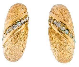Christian Dior Crystal Hoop Earrings