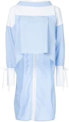 Enfold contrast long-sleeve blouse