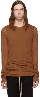 Rick Owens Brown Basic Long Sleeve T-Shirt