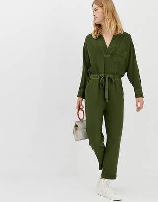 Asos casual wash v-neck jumpsuit