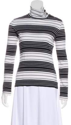 Tory Burch Striped Turtleneck Top