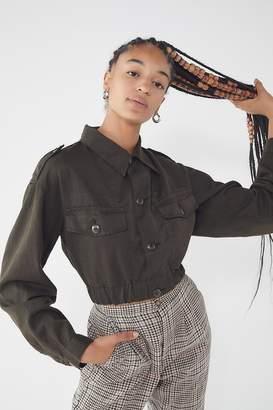Urban Renewal Vintage Elastic Band Surplus Button-Down Shirt