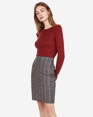 Express High Waisted Clean Plaid Pencil Skirt